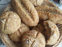 Rizskovásszal készült zabpelyhes zsömle és bagett | Gluténmentes, tejmentes, tojásmentes recept Pink Dust blog