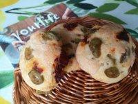 Olívás, aszalt paradicsomos puffancs | Gluténmentes, tejmentes recept Pink Dust blog